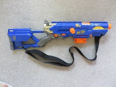 Nerf N-Strike Longstrike CS - 6 Rifle Toy Gun plus Cartridge Magazine & strap