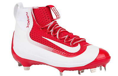 NEW Men's NIKE Alpha Air Huarache Filth Mid Baseball Cleats Red Shoes Size: 16