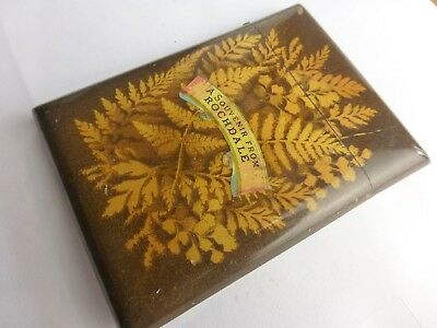 Souvenir from Rochdale fern ware   antique calling card case