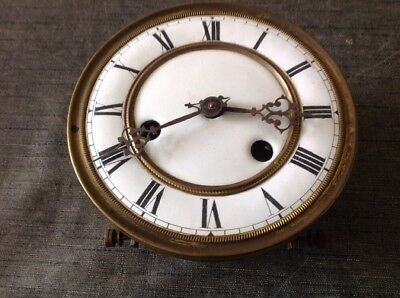 Vienna Clock Movement Mounting Frame Face Dial And Hands 14.5cm Diameter