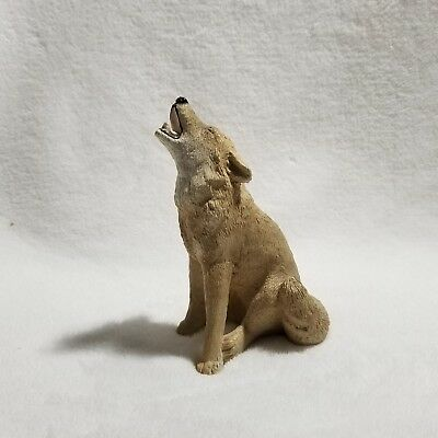Stone Critter WOLF HOWLING Figurine Resin 5""