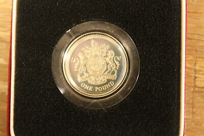 1983 United Kingdom Silver Proof 1 Pound Coin with box