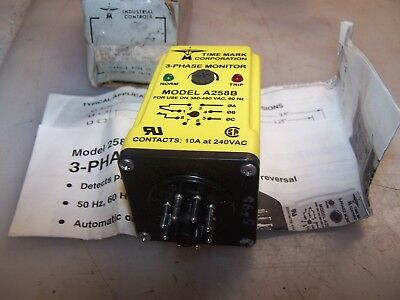 New Time Mark 3 Phase Power Monitor 10 Amp 240 Vac Model A258B