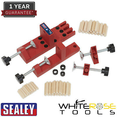Sealey Universal Dowelling Jig Set Dowel Carpenters Wood Joint Tool Kit
