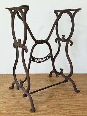 Antique Ornate Wilson Treadle Sewing Machine Base Cast Iron Table Legs