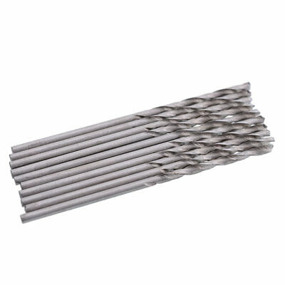 Pratical 10pcs 1mm Straight Shank HSS(High Speed Steel) Twist Drill Bits Tools