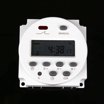 12 Volt 16 Amp LCD Digital Display Programmable Timer Switch for Light