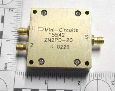 MINI CIRCUITS ZN2PD-20  POWER SPLITTER /  COMBINER SMA USED 2 GHz RF