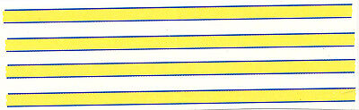 SET OF 8 blue yellow STRIPES DECAL IDEAL FOR CODE 3  1/43 police ambulances