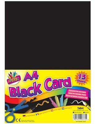 ArtBox A4 Black Card (Pack of 15 Sheets)(6873)