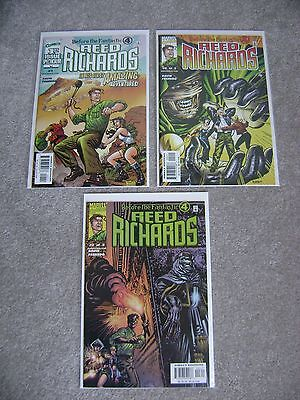 Before The Fantastic Four Reed Richards #1 2 3 Complete Set Marvel Comics 2000