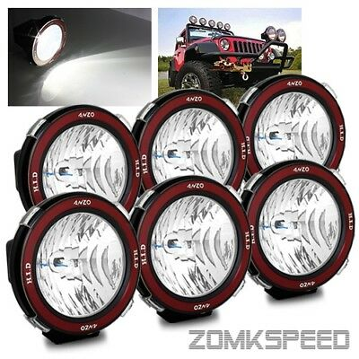 "6 x 7"" Hi-Power 55W Xenon HID Off Road ATV/Tractor/Boat Round Flood Beam Lights"