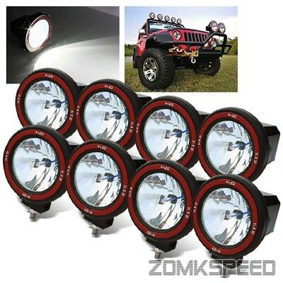 "8 x 4"" Hi-Power 55W Xenon HID Off Road ATV/Tractor/Boat Round Flood Beam Lights"