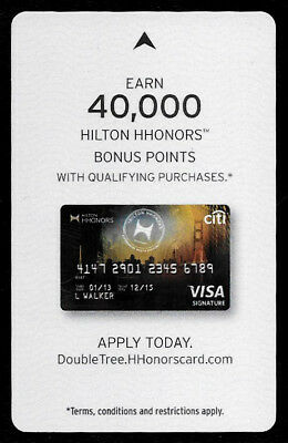 Hilton Honors Double Tree Bonus Points Apply Today, Hotel Room Key Card