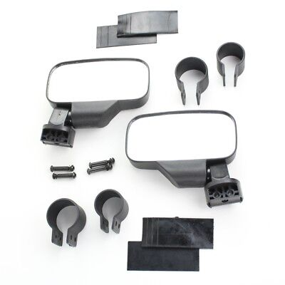 Black UTV Universal Side View Mirror Kit for Kawasaki Teryx 750 800