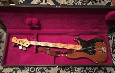 Fender Precision 1973 Fretless Bass Sn509489  Emg Pickup My Baby Pre 1977 Sweet