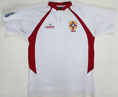 Tonga Away Match Worn Number 17 Shirt - 2007 IRB Pacific Rugby Cup - XL - Jersey
