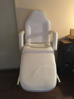 Adjustable Portable Medical Dental Chair W/stool Combination White