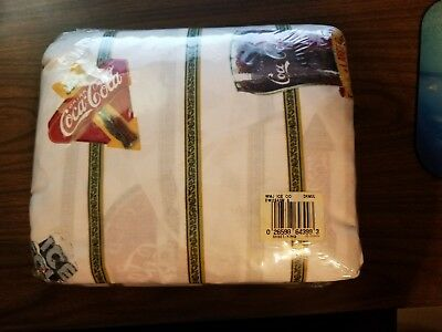 Coke Coca Cola Logo King Size Sheet Set New Sealed In Package Mint