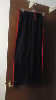 Boys size M(10-12) Adidas Athletic Pants Black with red stripes