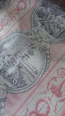 CHARMING ANTIQUE FRENCH TOILE PILLOW COVER PILLOW SHAM c1930