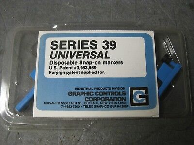 New Graphic Controls Series 39 Universal 82-39-0203-06 BLUE MKR Pens (Pack of 6)