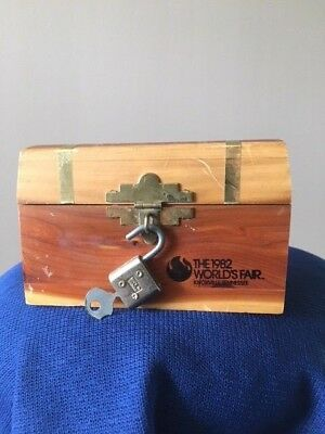 1982 World's Fair Knoxville, TN Cedar Chest Box Lock and Key