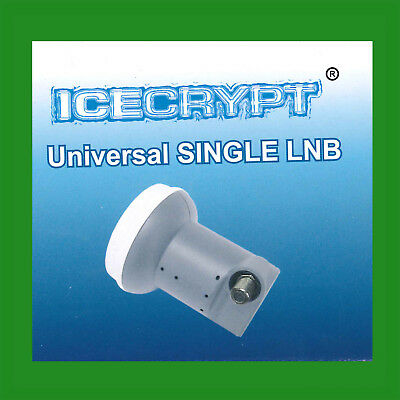 Universal Single LNB for Satellite Dish with Cover Collar 40mm HD 3D SD 0.1dB