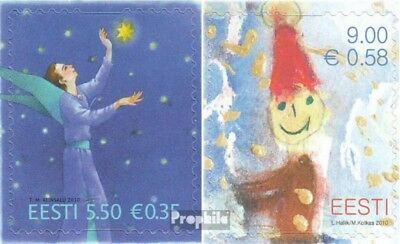 Estonia 679-680 (complete.issue.) unmounted mint / never hinged 2010 christmas
