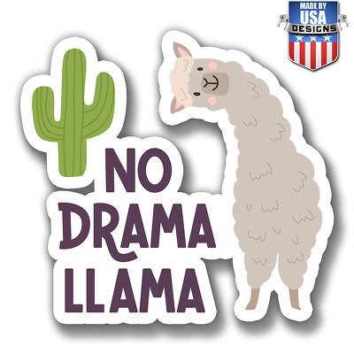 No drama llama lama funny cactus Decal Phone laptop Car Window 30063
