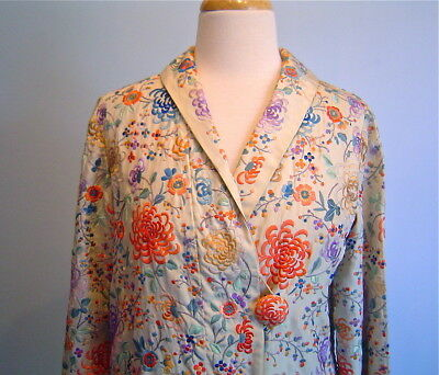 Antique Vintage Hand Embroidered Silk Jacket from c1920 Embroidered Piano Shawl