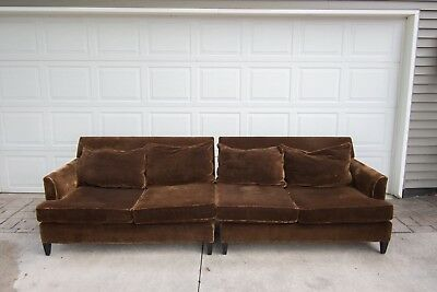 Awe Inspiring Mitchell Gold Bob Williams Brown Mohair Sectional Sofa Ibusinesslaw Wood Chair Design Ideas Ibusinesslaworg