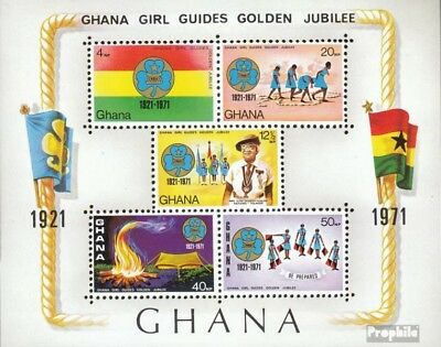 Ghana Block42 (complete.issue.) unmounted mint / never hinged 1971 Girl Scouts