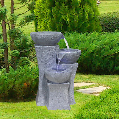springbrunnen wasserfall wasserspiel led beleuchtung garten brunnen innen au en eur 89 90. Black Bedroom Furniture Sets. Home Design Ideas
