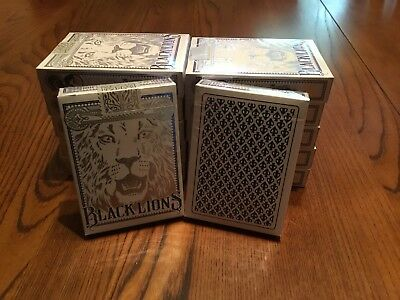 David Blaine Black Lions Blue Decks Set Of 12