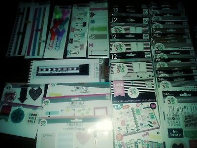 HUGE NEW LOT OF 39 pcCREATE 365 Happy Planner and accessories