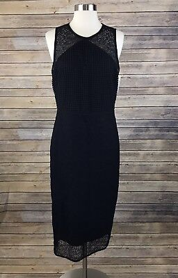 a910760d48bc DVF DIANE VON Furstenberg KATRINA Lace Cap Sleeve Sheath Dress Black ...
