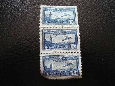 FRANCE - stamp yvert/tellier air n° 6 x3 cancelled (A12)