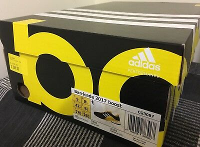 Brand New!! Adidas Barricade Boost 2017 Tennis Shoe - US9 UK8.5