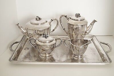 Fikyo Ginki Tea And Coffee Set Sterling Silver 950 5 Piece Set A10126