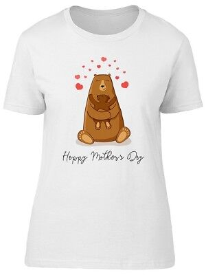 Cute Mom Bear & Baby Mothers Day Women's Tee -Image by Shutterstock