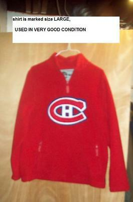 hockey pull over / RED/ montreal canadians / NHL/ STANLEY CUP / FAN ITEM/ SIZE L