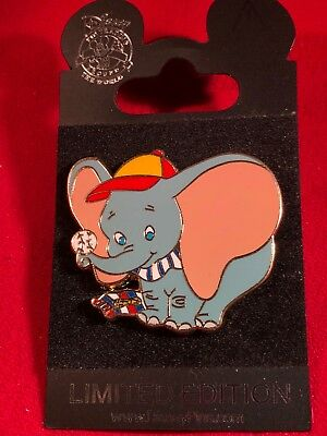 1 Disney Pin  LE Dumbo Playing Baseball  New on Card  As Shown. lot gt