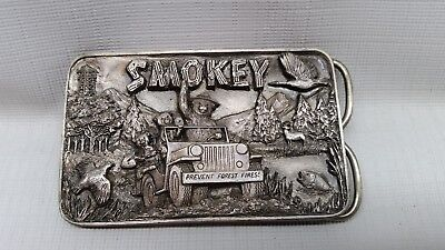 1988 Smokey Bear Limited Edition Pewter Belt Buckle #271 Out Of 300