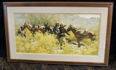 Howard Terpning The Scouts Of General Crook Signed & Numbered Lithograph Framed