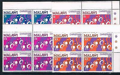 Malawi 1973 Christmas CORNER BLOCKS SG 445/8 MNH