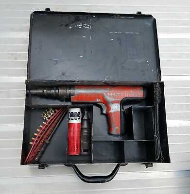 HILTI DX 350 POWDER ACTUATED POWER HAMMER w/ EXTRA PARTS WORKS NAIL GUN