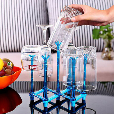 7 Cups Drink Bottle Mug Storage Rack Upside Down Glass Cup Drain Holder Stand