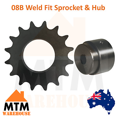 08B Weld Fit Sprocket & Hub Any Tooth and Bore Size