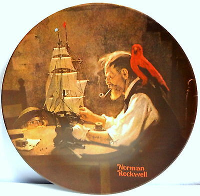The Ship Builder Plate by Norman Rockwell Knowles Plate Bradex #84-70-3.4 #7669D
